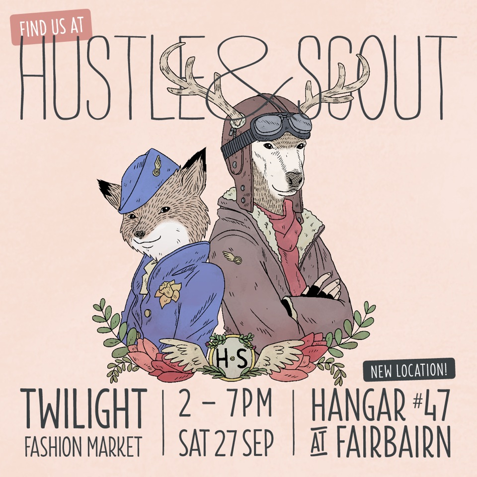 Hustle&Scout twilight market - refer to adjoining text for details