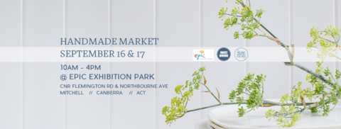Handmade Market September 16 & 17 10am - 4pm @ EPIC Exhibition Park