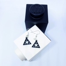 Sierpinski Triangle earrings - top down view