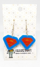 Superman inspired earrings