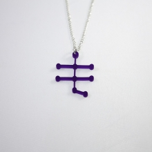 Purple alcohol molecule necklace