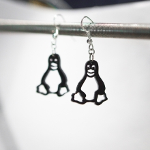Black Tux penguin earrings
