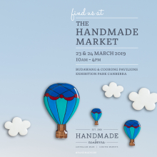 Find us at the Handmade Market 23 and 24 March 2019