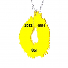 Solar Vis Jewellery - a physical visualisation of solar flares and radio flux from the past 20+ years