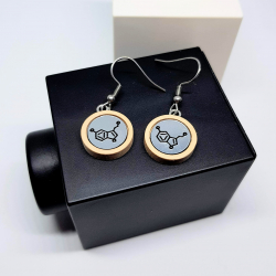 Serotonin small drop earrings