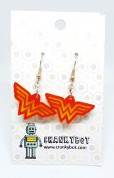 Wonder woman inspired earrings