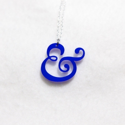 Blue Clifford Ampersand necklace