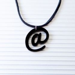 Black at sign necklace