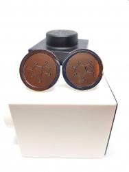Theobromine cufflinks